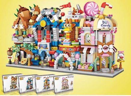 🚚 Loz cute street mini building blocks