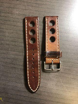 Beautiful 22mm Rally leather strap