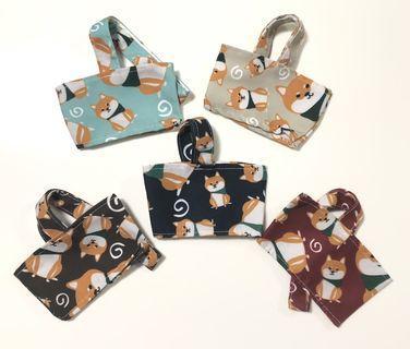 Cup Sleeve holder bubble tea/starbucks-dogs/shiba inu