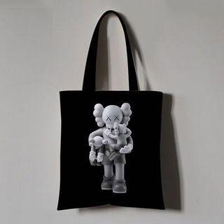 KAWS BLACK TOTEBAG