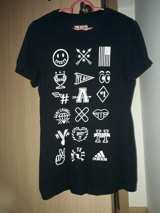 BN Authentic Adidas Black Tshirt