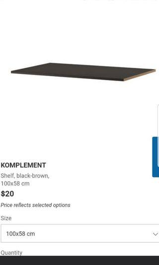 Ikea komplement shelves