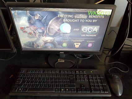 Computer set for gaming
