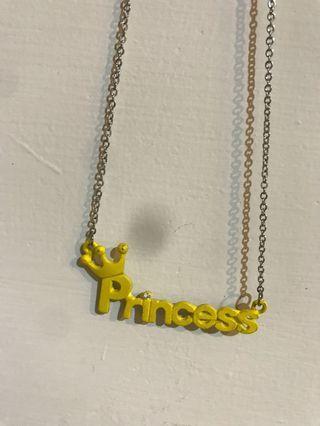 🚚 Princess字體項鍊