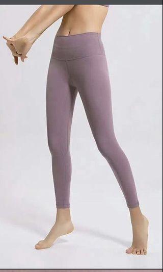 Size XS Align Pant Asia fit 裸感 瑜伽褲 褲 柔軟 超級舒服  naked sensation 豆沙色 dark purple 深紫 soft yoga stretch 拉筋 運動 長褲 貼身褲 leggings tight