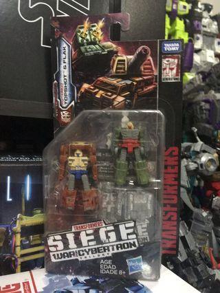 Transformers SIEGE War For Cybertron Trilogy Topshot & Flak