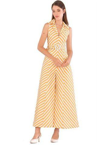 Yellow Stripe Jumpsuit