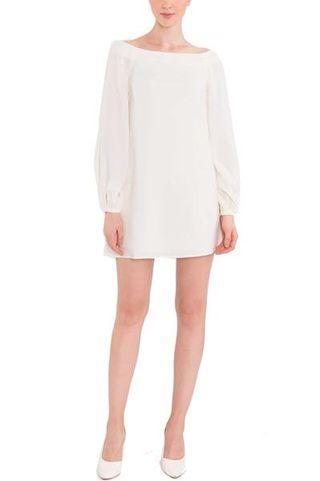 Cream off shoulder Dress