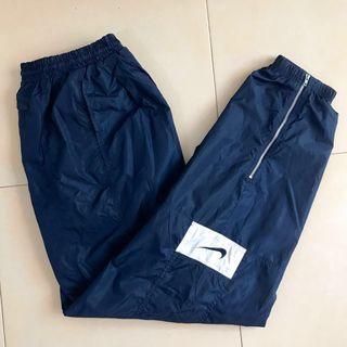 Nike Vintage Navy Blue Cuffed Windbreaker Pants