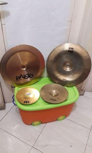 "PAISTE 5 CHINA 16"" , STAGG DH CHINA 16"", STAGG SPLASH DH 10"", MEINL SPLASH 8"""