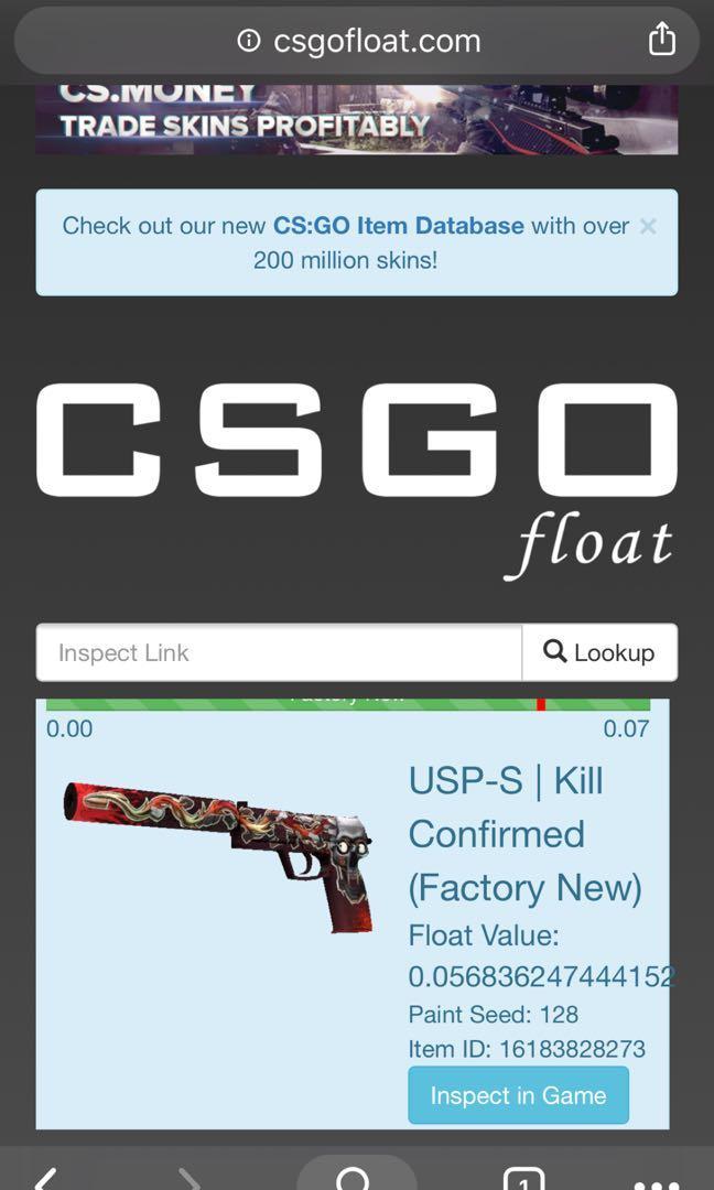60% MP] Csgo usp kill confirmed factory new, Toys & Games