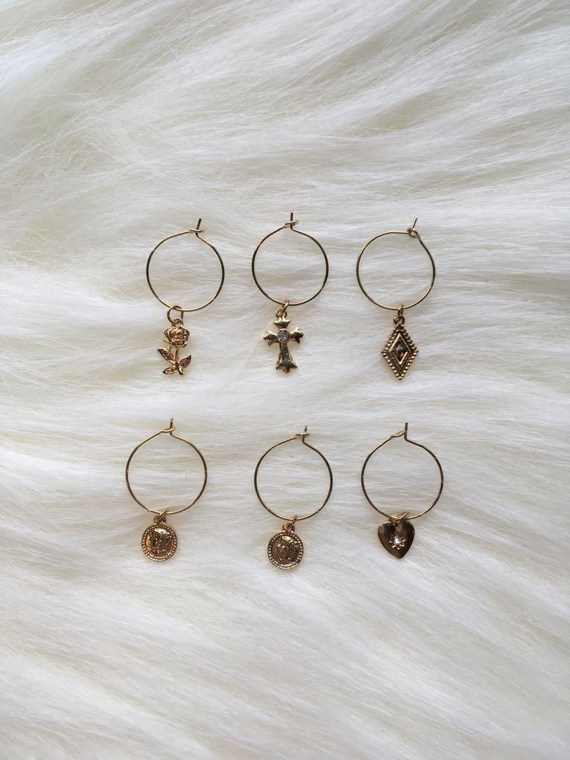 金色耳環 復古式