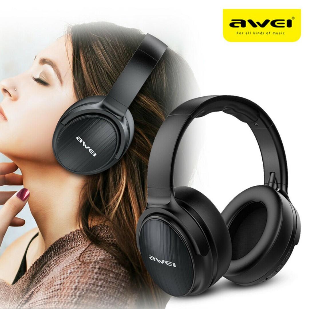 AWEI A780BL BT 5 0 Headphone with Microphone Deep Bass Gaming Music  Computer Phone Headset IPX5 Waterproof