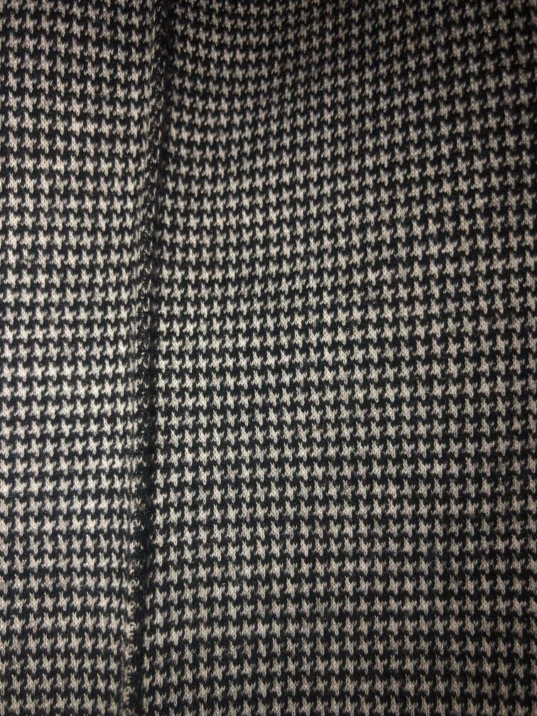 Black and white checked pants