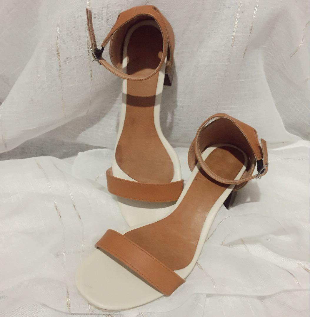 Block Heels 5cm with Synthetic Leather