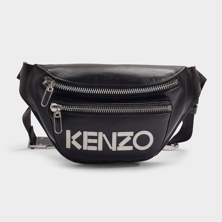 22c2d54f0e BNWT KENZO leather bum bag black waist bag Fanny pack, Women's ...