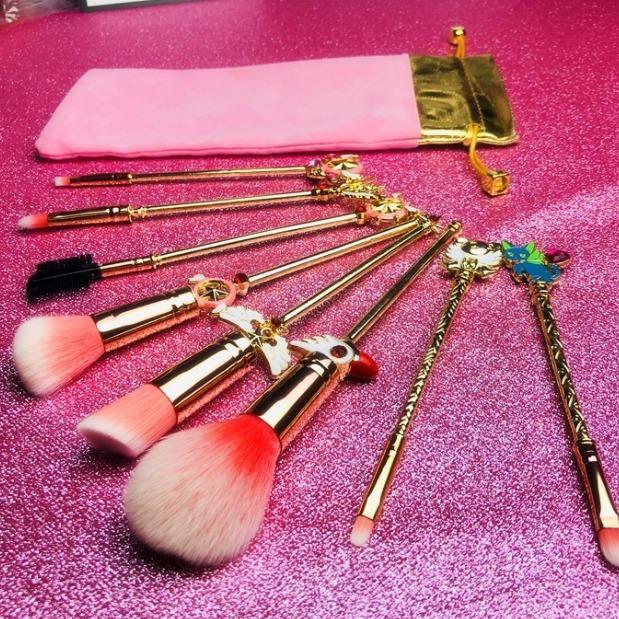 Cardcaptor Sailor Moon Makeup Brush 8Pcs/ Set Metal Magic Wand Brush