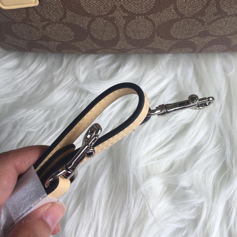 Coach Mini Bennet Signature bahan original leather sz 24cm with serial number