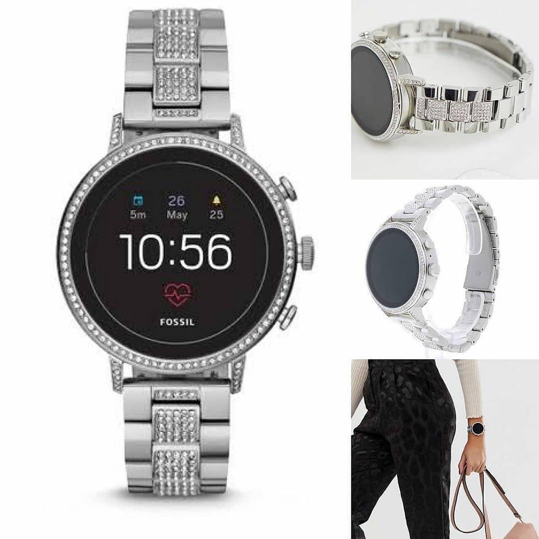 Fossil Smartwatch Gen 4 Venture HR Stainless Steel#FTW6013sz 4CM Silver