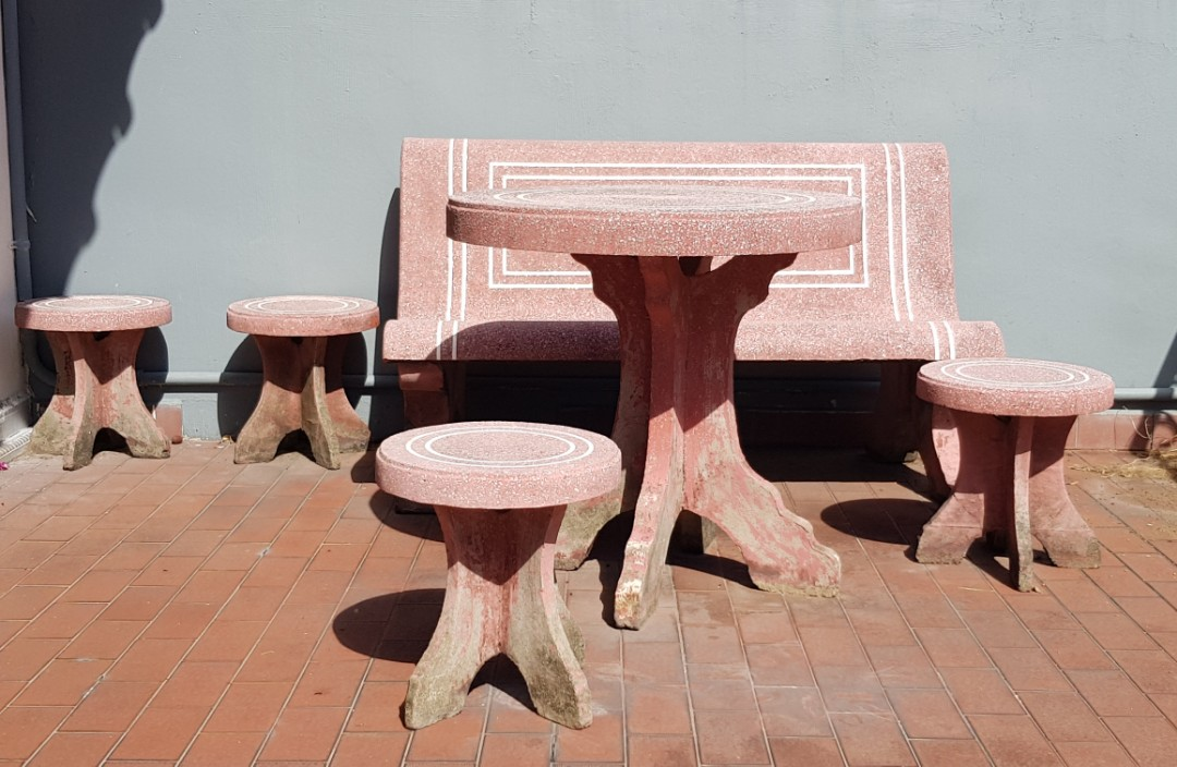 Garden Outdoor Stone Table Bench Chair, Outdoor Stone Table And Chairs Singapore