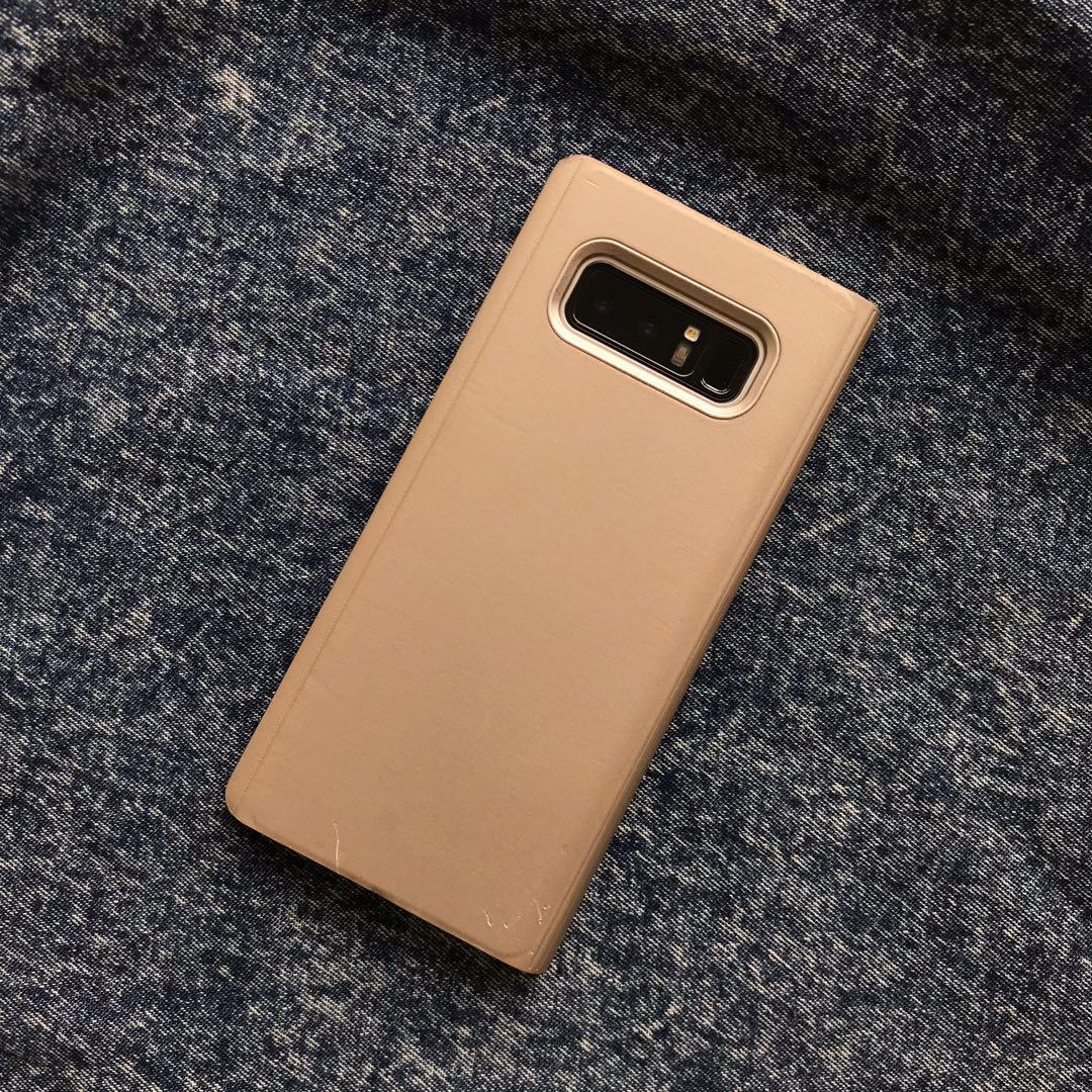 Gold Flip Case for Samsung Galaxy Note 8
