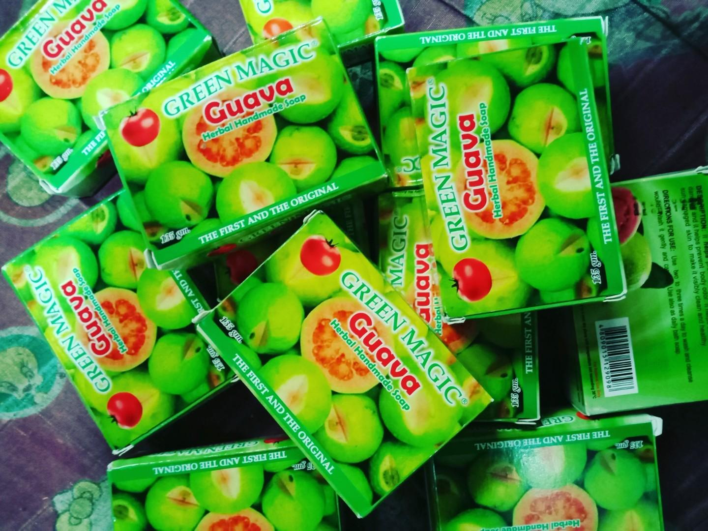 Green magic guava soap on Carousell