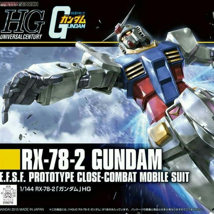 Gundam gunpla RX-78-2 HGUC 1:144