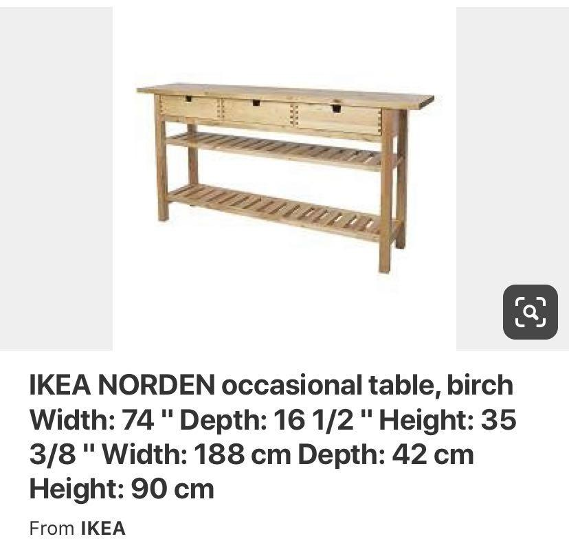 Ikea Norden Sidebar Table Birch Wood Furniture Tables Chairs On Carousell