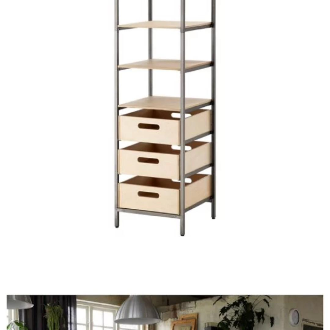 purchase cheap 354c0 b6ebd MUST GO!! IKEA Veberod Shelving Unit with 3 drawers ...