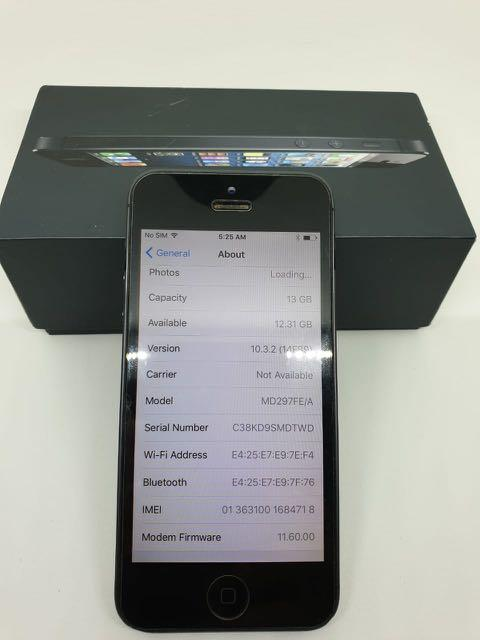 iPhone 5 16gb Black eks inter