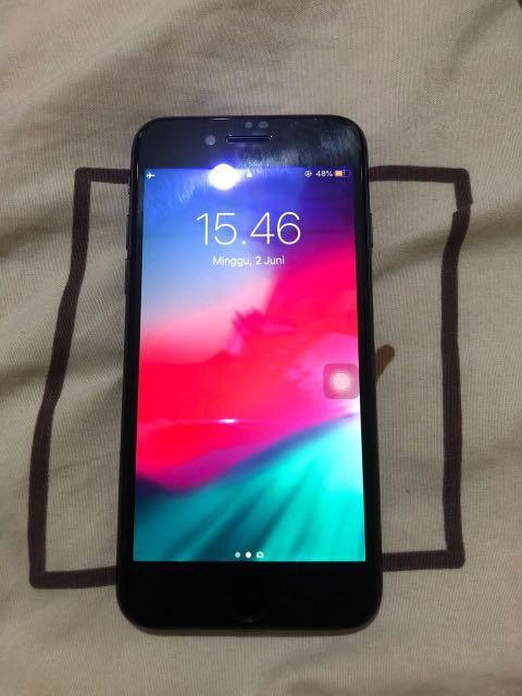 iphone 7 256gb black ex garansi ibox