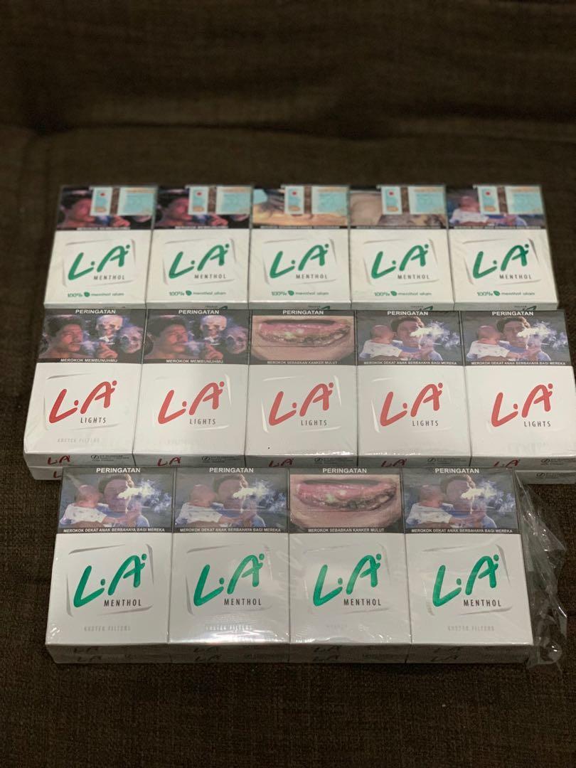 Jual rokok LA Light 2 slop + 8 bks (28 bungkus) murah