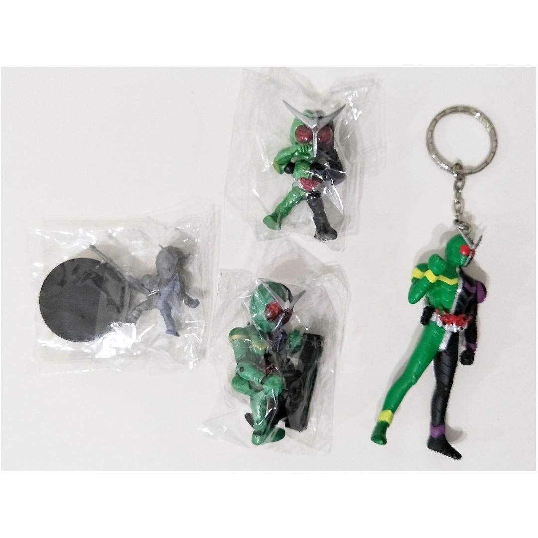 Kamen Rider Double W Cyclone Joker Mini figure Key charm