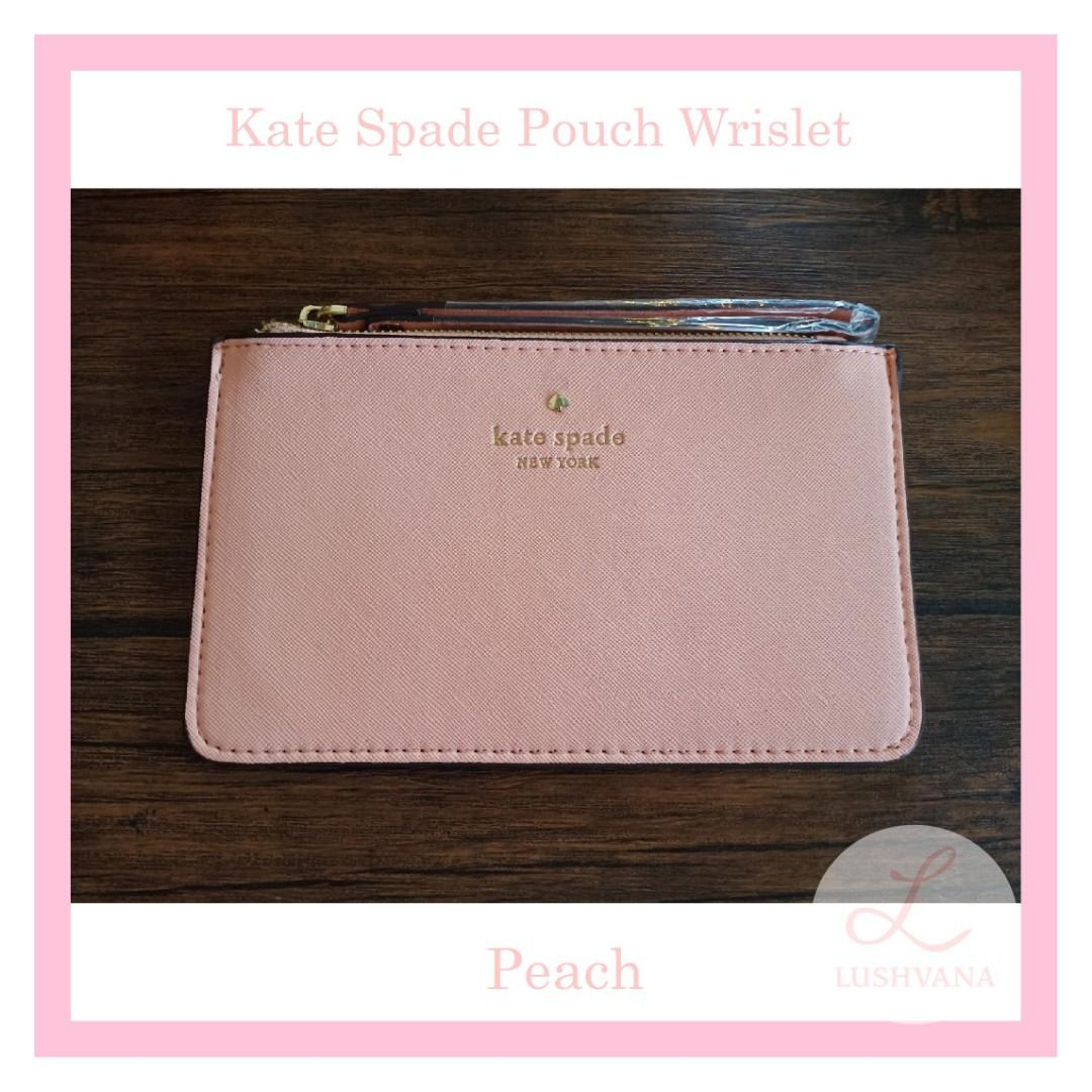 Kate Spade Pouch Wrislet Authentic Peach