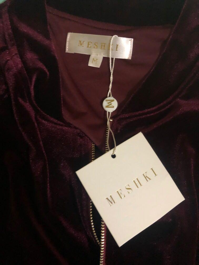 MESHKI BURGUNDY JACKET