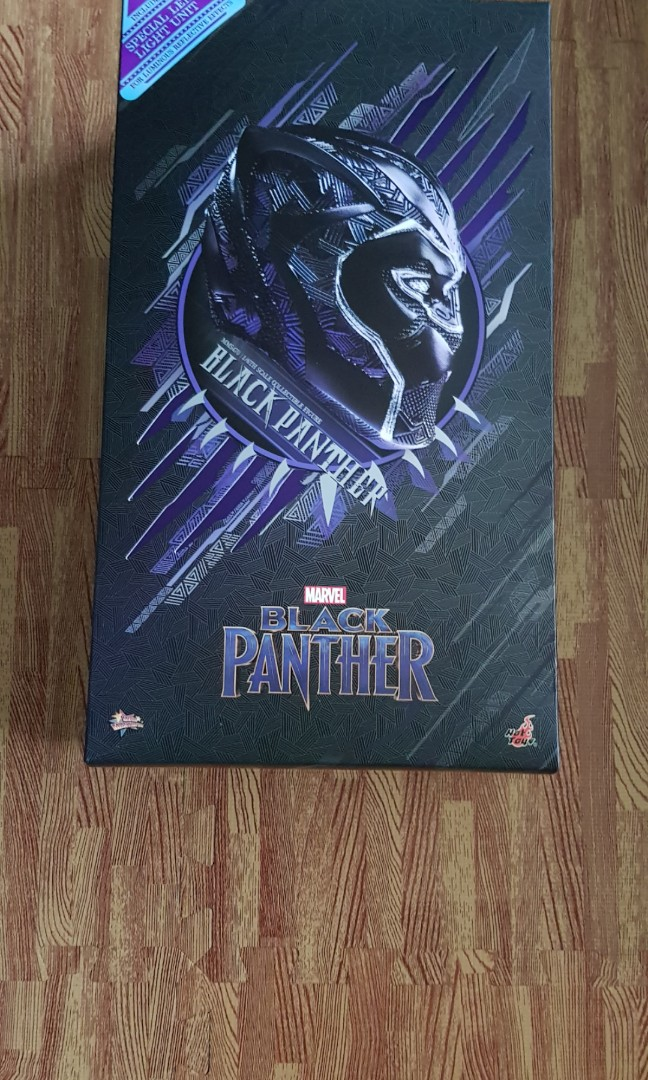 Mib Hot Toy Hottoy Black Panther Led Unit Not Included