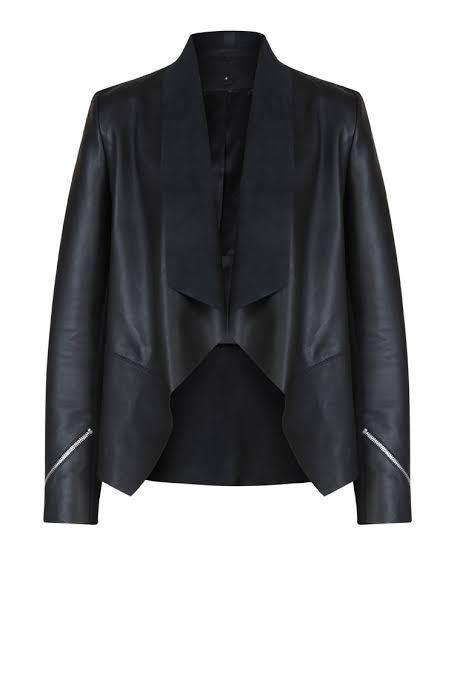 Moochi saddle leather jacket