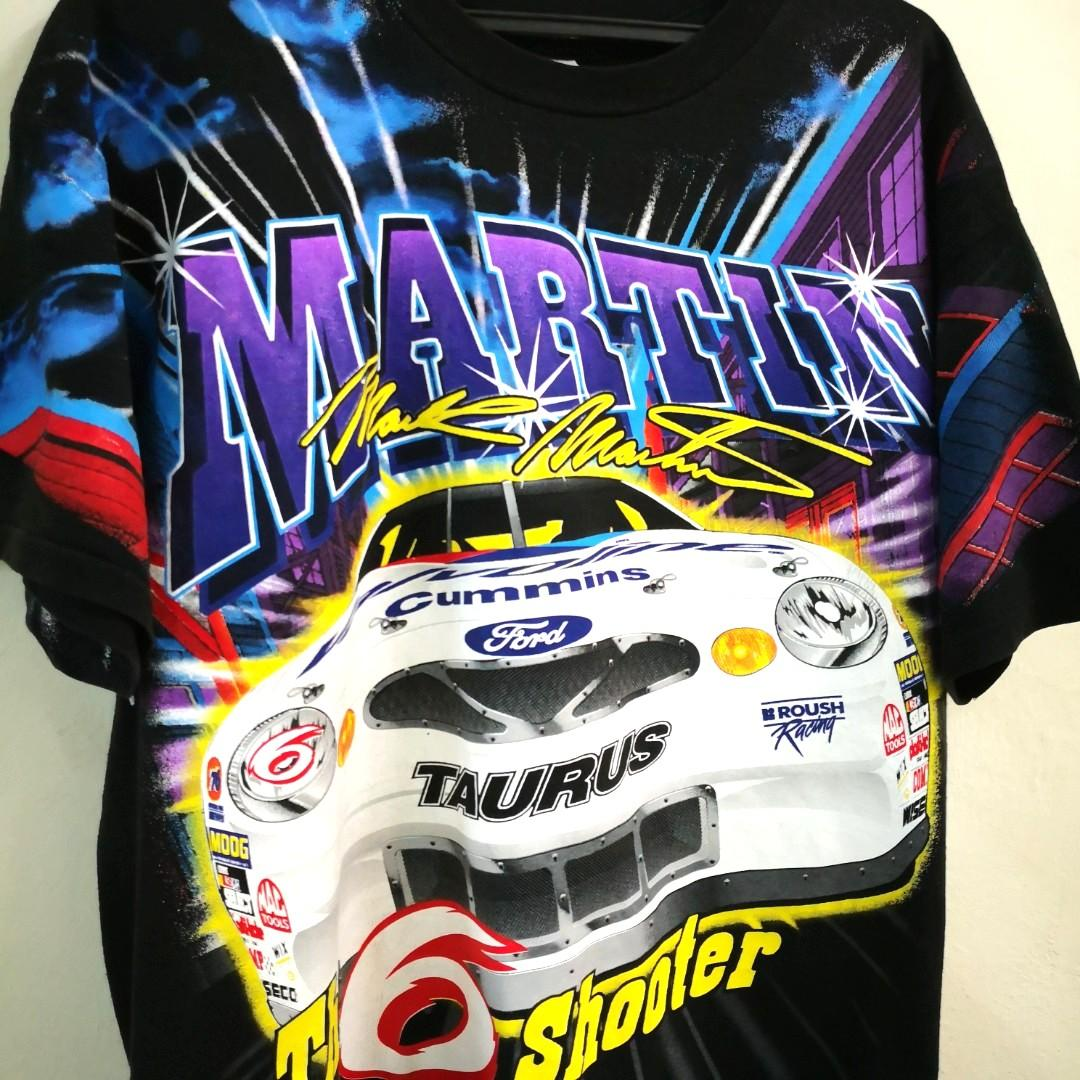 Nascar Racing Mark Martin #6 Over Print T Shirt