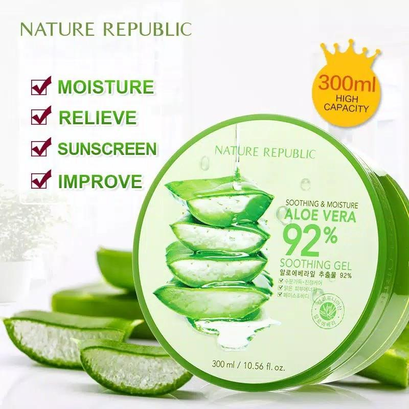 Nature Republic Aloe Vera Soothing Gel kemasaan mangkok