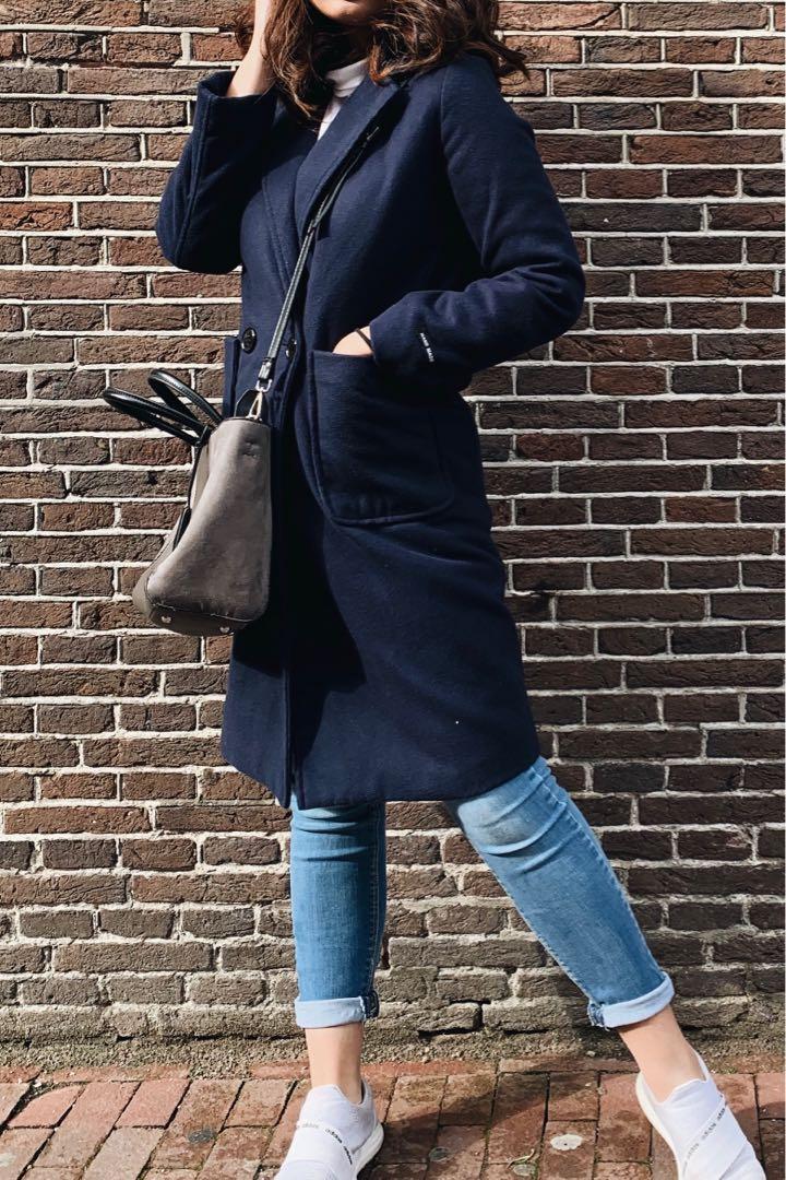 Navy spring coat