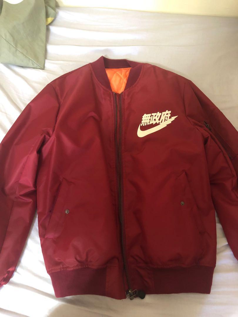 Nike Anarchy Kanji Bomber   Grailed