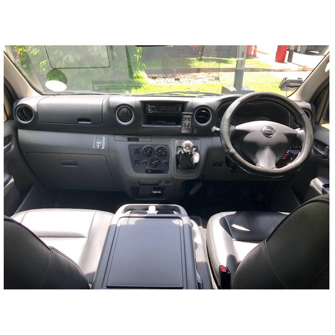 NISSAN NV350 2.5L 2018 MANUAL DIESEL, Van for rent, Van rental @ Hillview MRT
