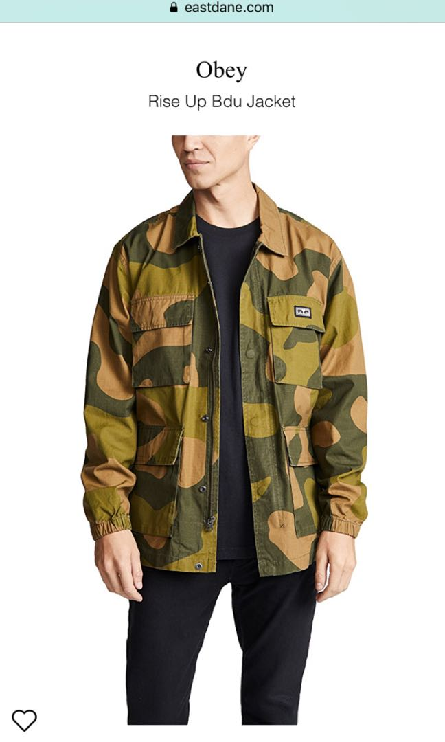 c672e2cfedb8d OBEY Rise Up BDU Jacket OVERSIZE CAMO, Men's Fashion, Clothes, Outerwear on  Carousell