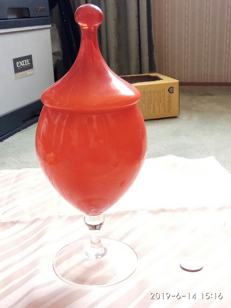 Orange glassware container