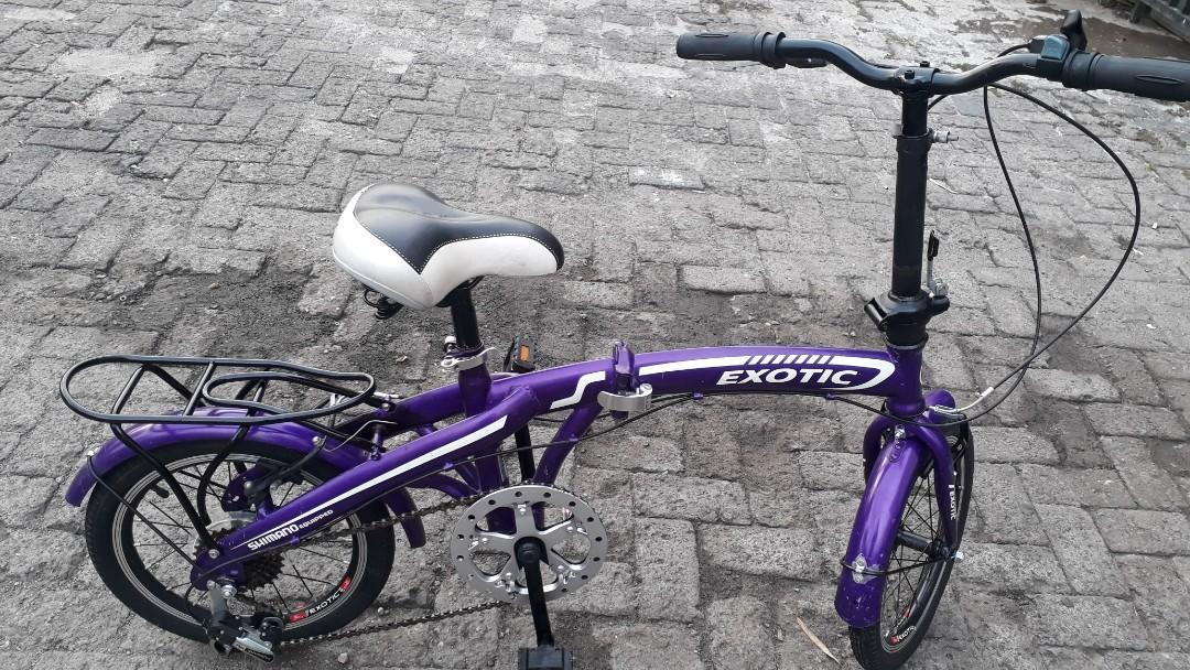 Sepeda Lipat Exotic 16 Inch Olah Raga Sepeda Di Carousell