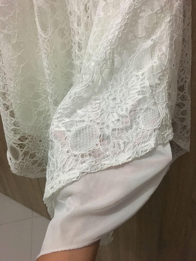 Stella white lace dress