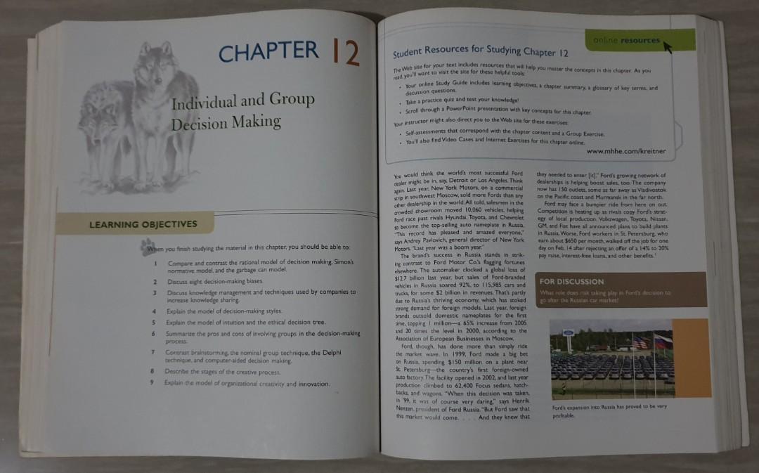 Textbook Original Bahasa Inggris 'Organizational Behavior' 8th International Edition (Pre-Owned)