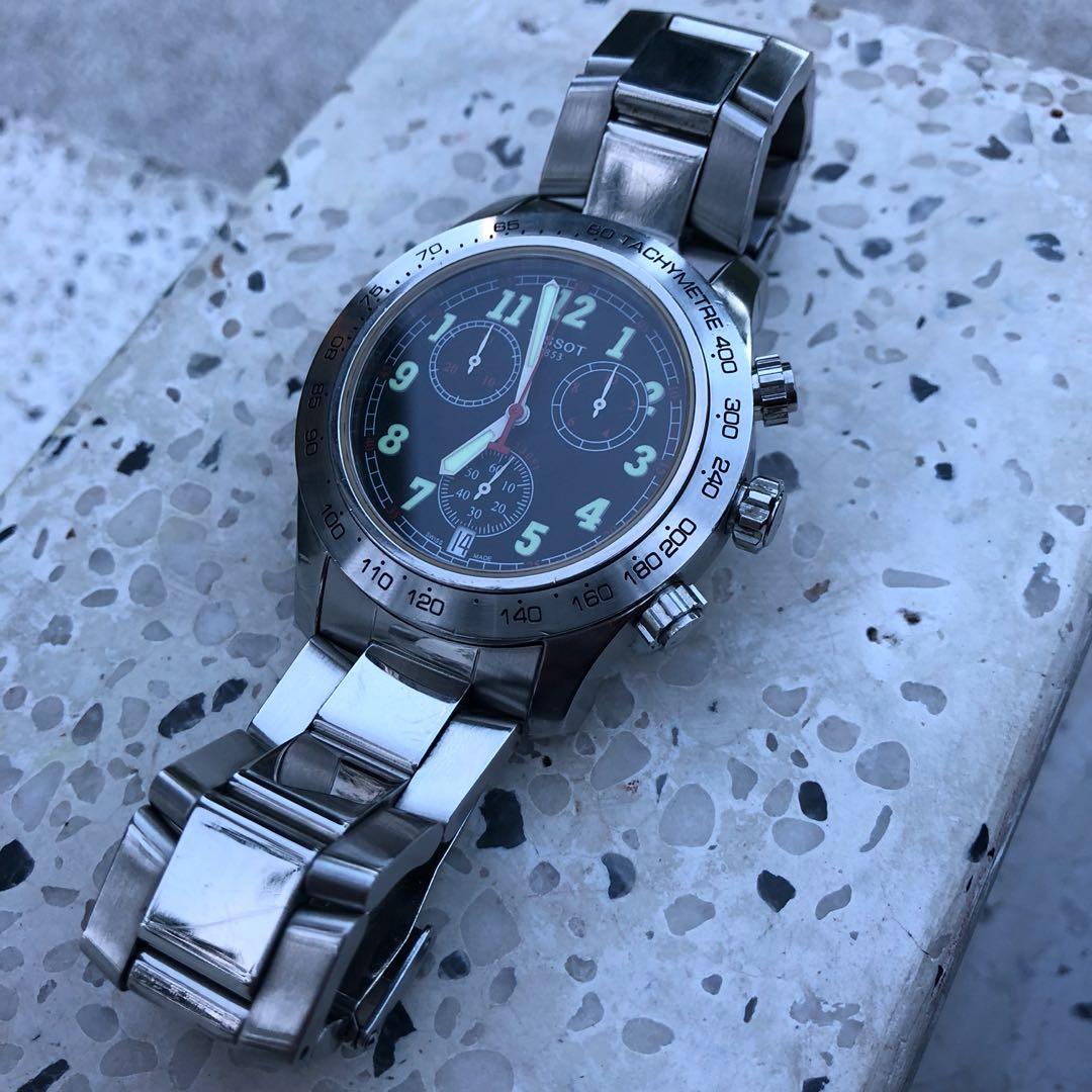 Tissot V8 Sport Chronograph Gents Watch Stainless Steel Quartz