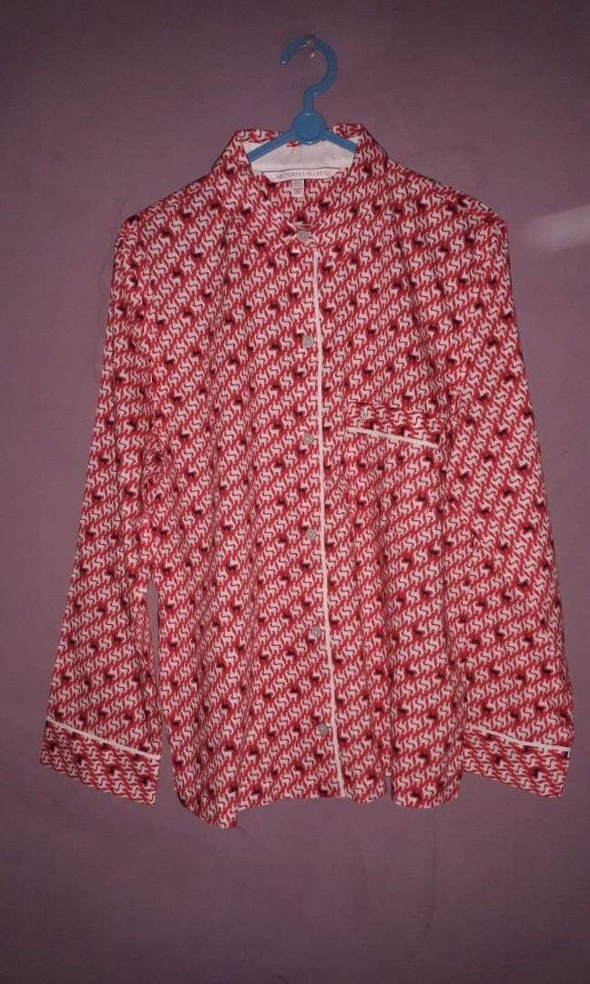 Victoria's Secret Pajama Red Deer Pattern