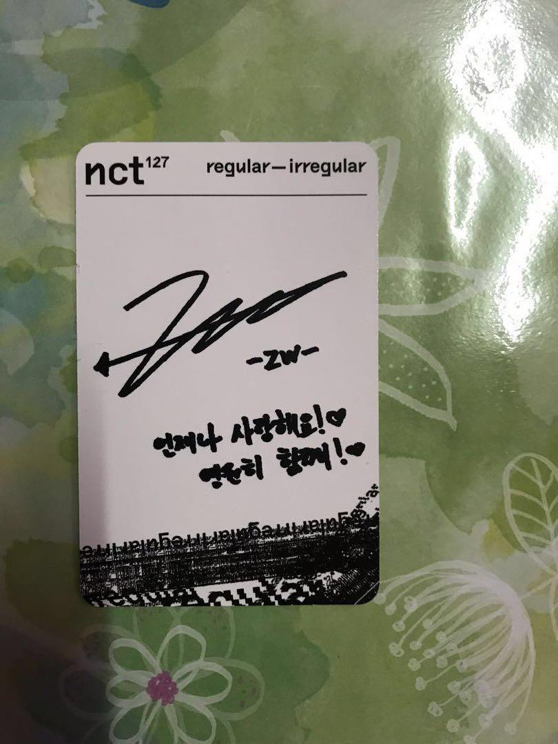 [WTS] NCT 127 JUNGWOO REGULAR-IRREGULAR PHOTOCARD REGULAR VERSION